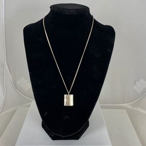 CHANEL CC Rectangle Charm Pendant Necklace